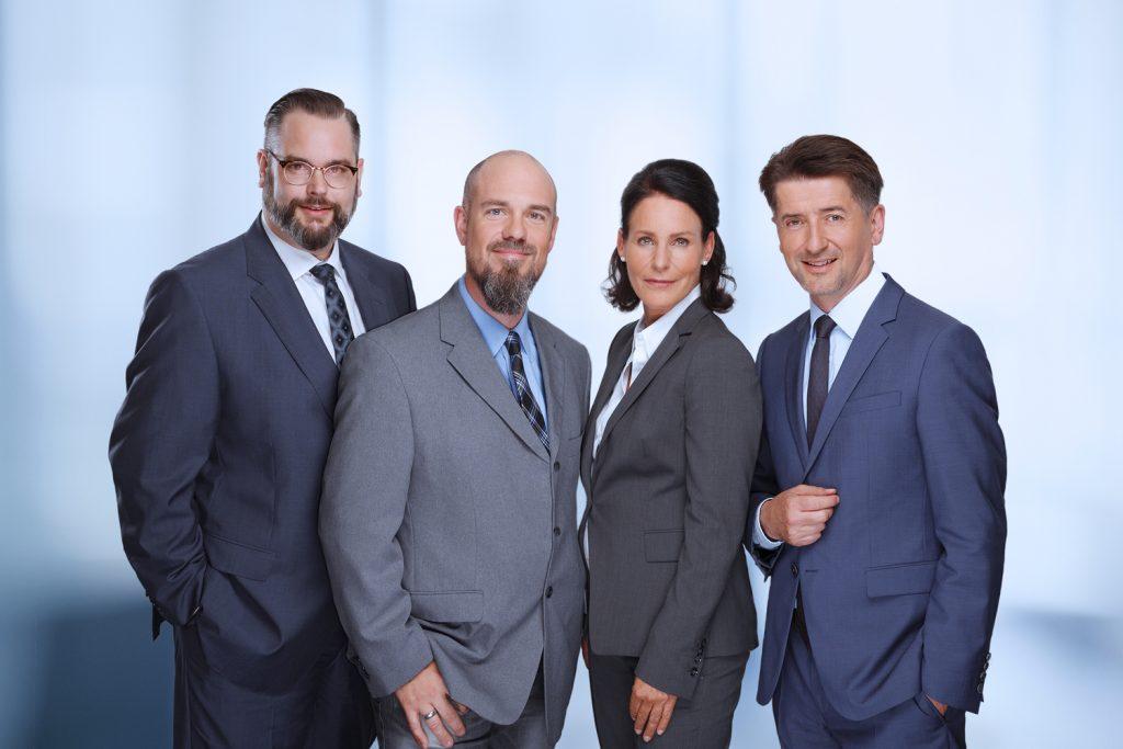 Thorsten Hartmann, Andreas Hodapp-Schneider, Annemarie Steinhauer-Ahrens, Thorsten Augusti (v.l.)