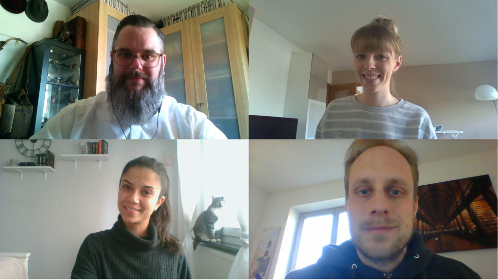 Teambild aus dem HomeOffice